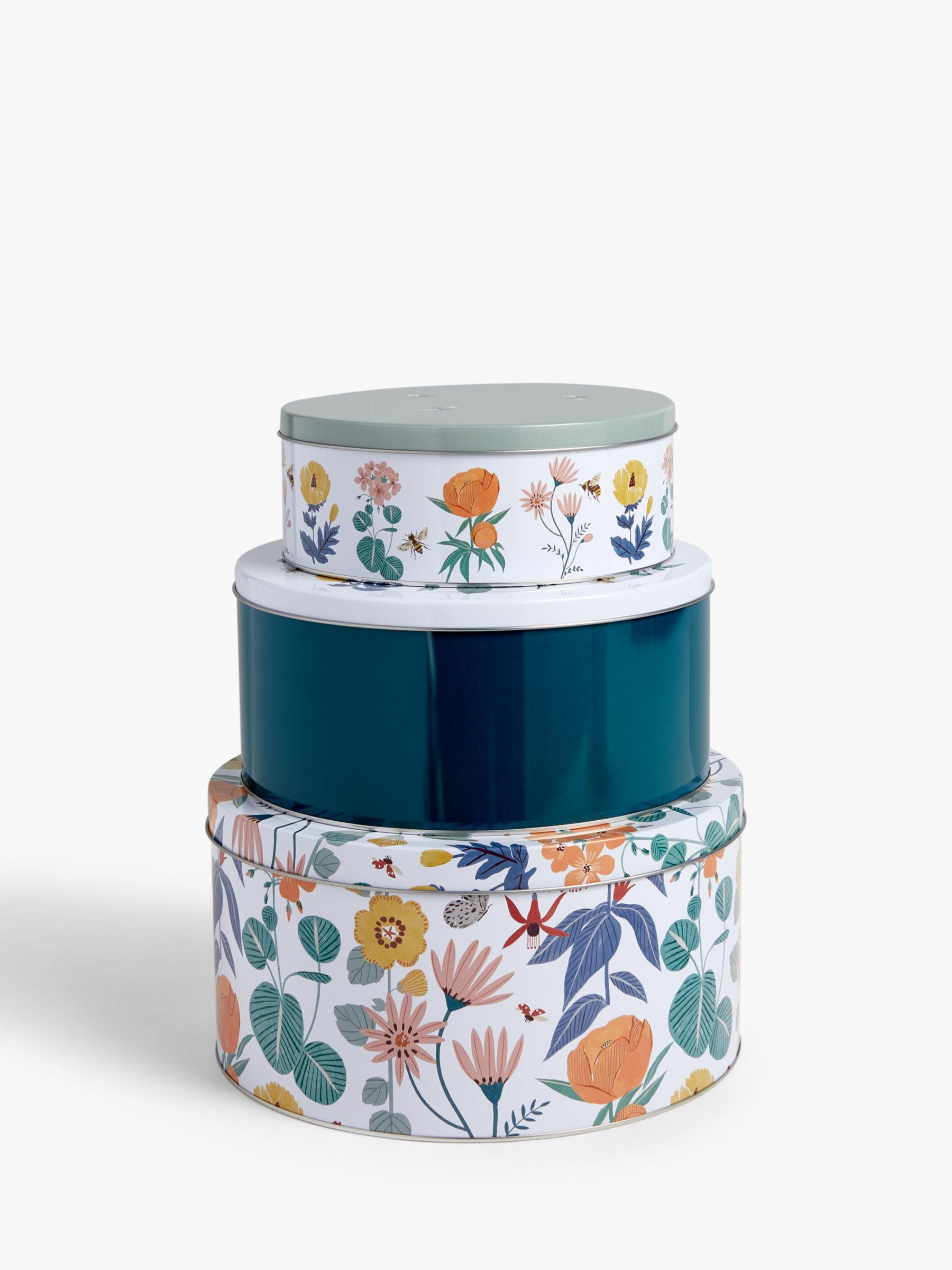 John Lewis & Partners Spring Cake Tins, Set of 3, Multi