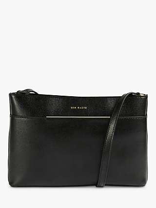 Ted Baker Golnaz Leather Cross Body Bag, Black