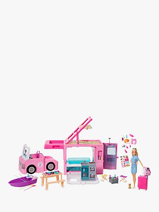 Barbie 3-In-1 Dream Camper Bundle with Barbie Travel Doll and Accessories Set
