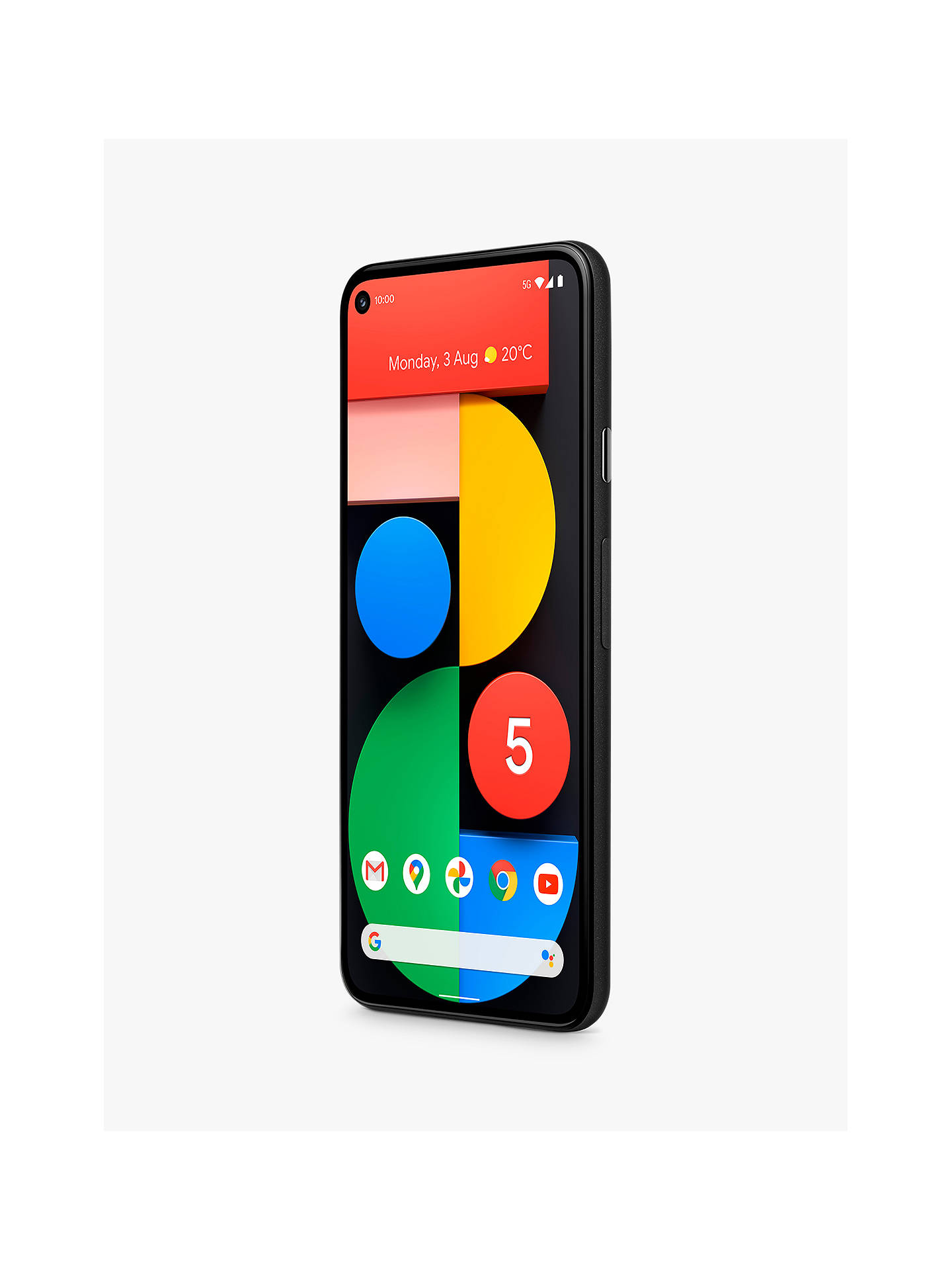 "Buy Google Pixel 5 5G Smartphone, Android, 8GB RAM, 5.96"", 5G, SIM Free, 128GB, Just Black Online at johnlewis.com"