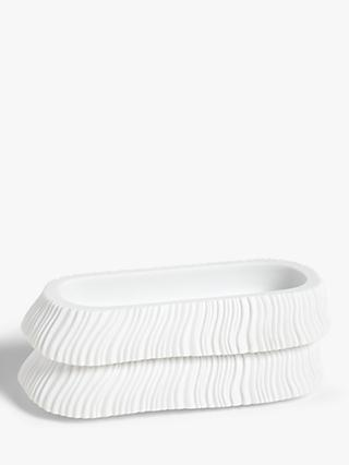 John Lewis & Partners Textured Stackable Storage Trays