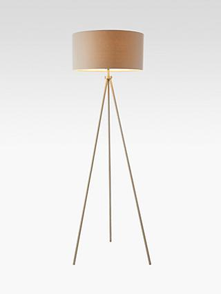 Bay Lighting Jax Tripod Floor Lamp, Matt Nickel