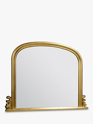 Thornby Overmantel Wall Mirror, 94 x 118, Gold