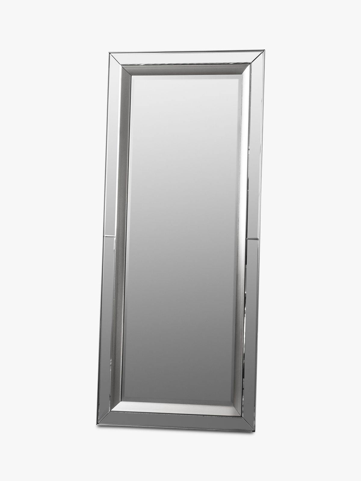 Madrid Rectangular Bevelled Glass Leaner Mirror, 158 x 69cm, Clear