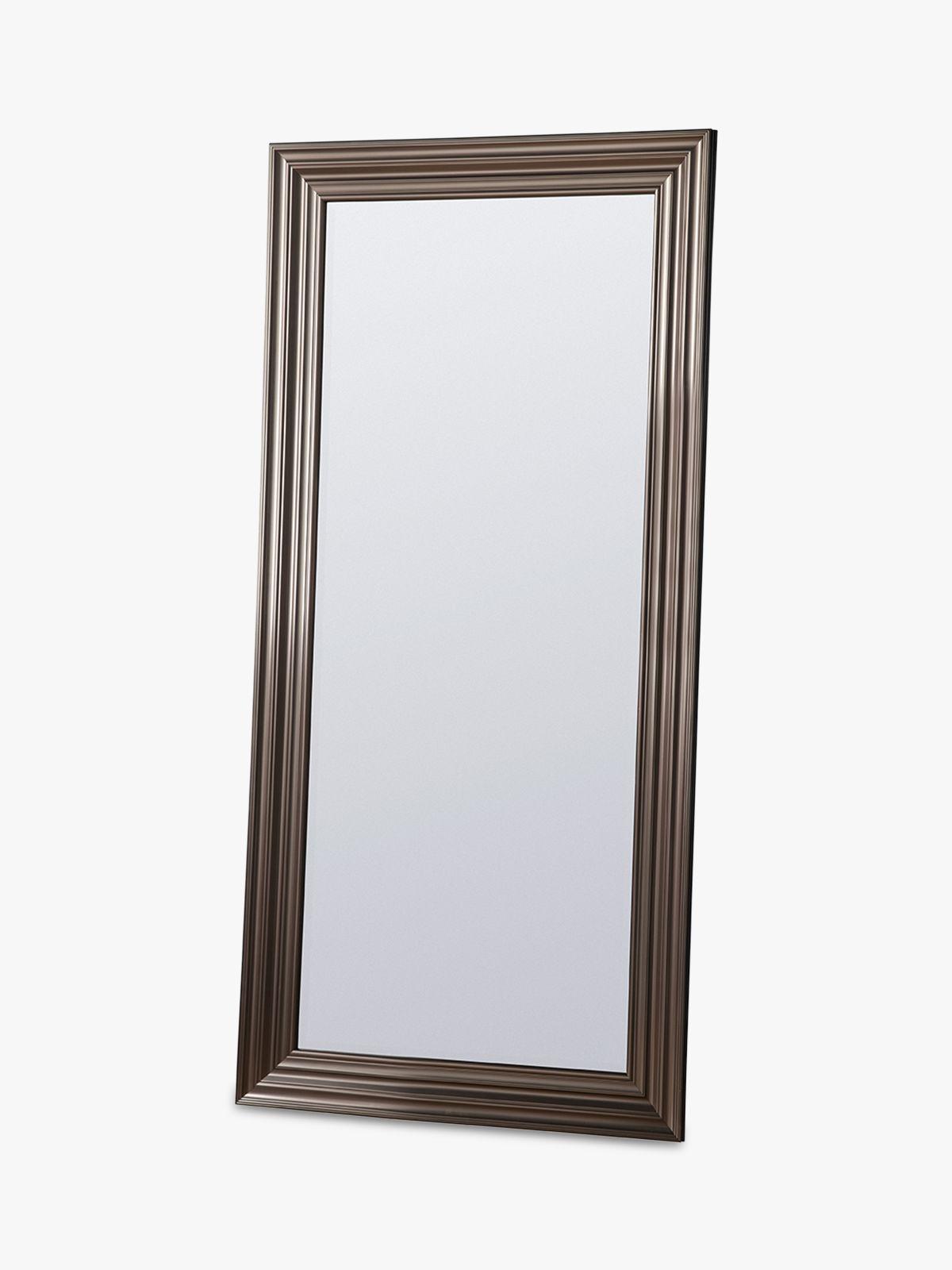 Erskine Rectangular Frame Leaner Mirror, 166.5 x 80.5cm, Pewter