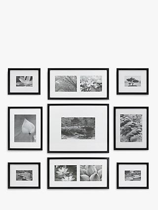 Gallery Perfect Multi-aperture Photo Frame Set, 11 Photo, Black