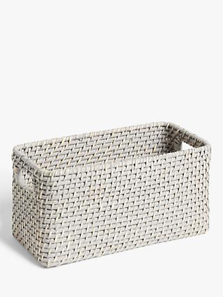 John Lewis & Partners Modern Country Rattan Storage Box
