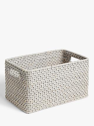 John Lewis & Partners Modern Country Rattan Basket