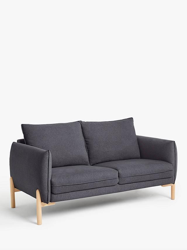 John Lewis & Partners Pillow Medium 2 Seater Sofa, Light ...