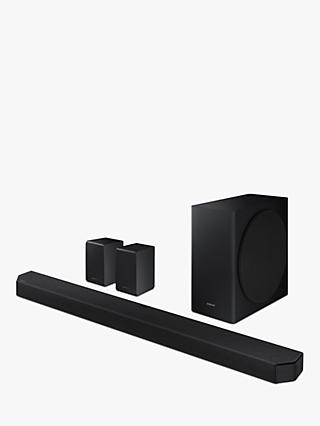 Samsung HW-Q950T Bluetooth Wi-Fi Cinematic Sound Bar with Dolby Atmos, Virtual DTS:X, Wireless Subwoofer & Rear Speakers