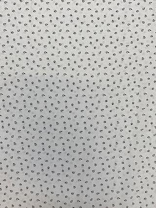 Marvic Fabrics Black Spots Print Fabric, White
