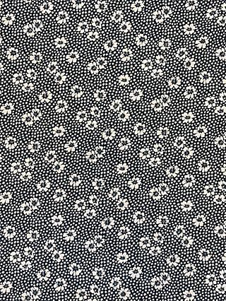 Marvic Fabrics Flowers and Stars Print Fabric, Charcoal