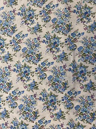 Marvic Fabrics Blue Floral Print Fabric, White