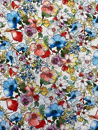 Marvic Fabrics Multi Flowers Print Fabric, Ivory