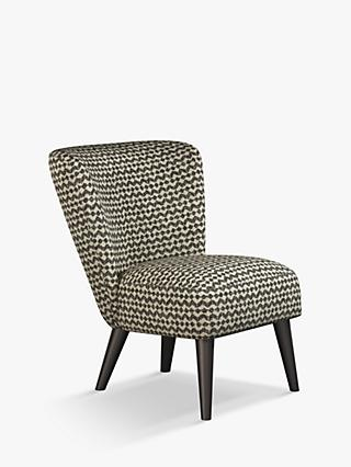 John Lewis & Partners Audrey Accent Chair, Black Leg, Alda Monochrome