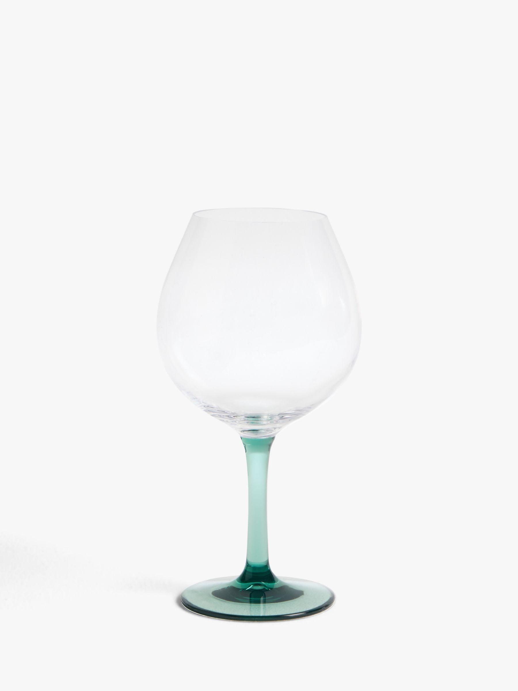 John Lewis & Partners Plastic Gin Glass, Set of 2, 650ml, Blue/Green