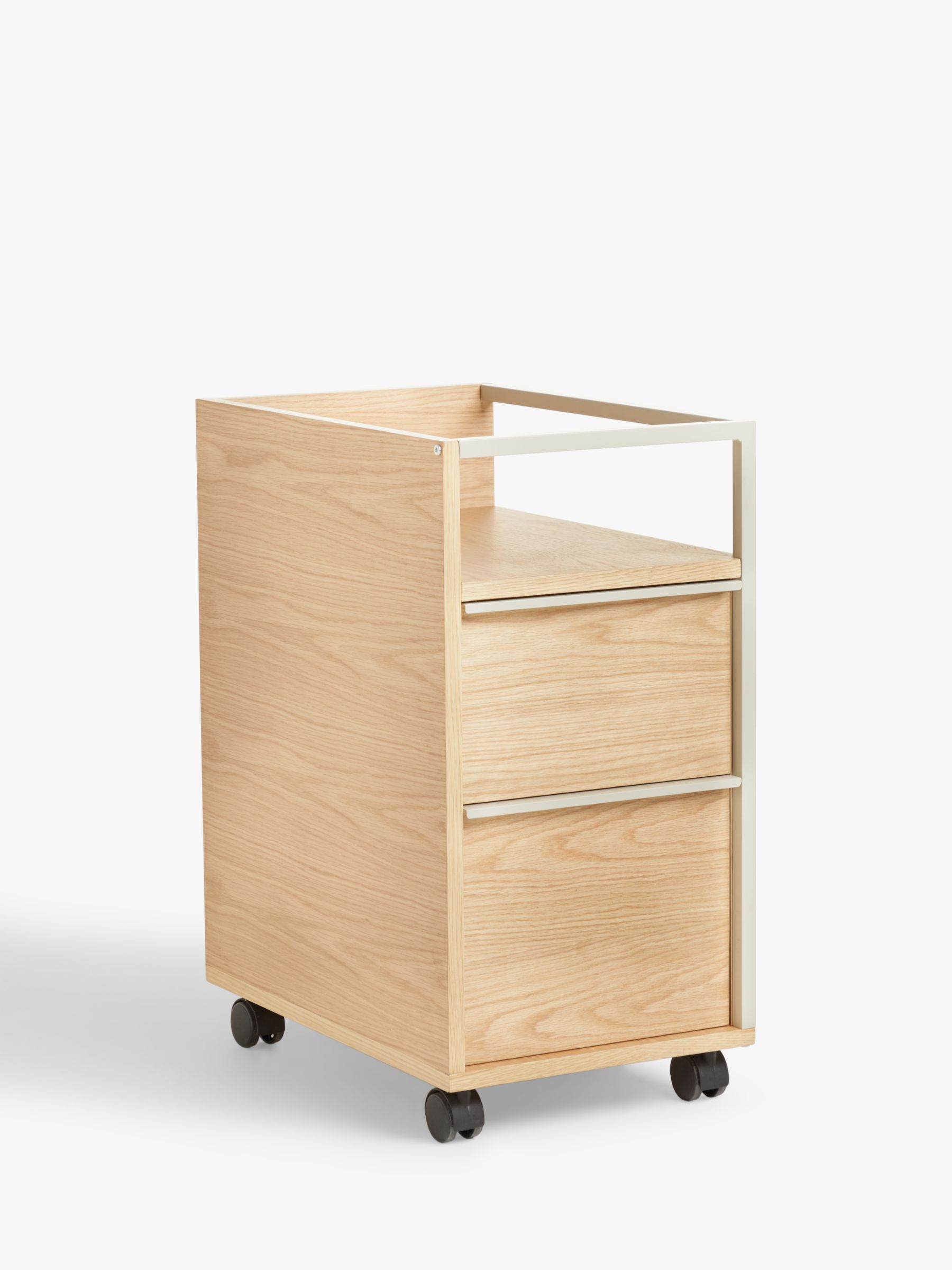 John Lewis & Partners Glide Filing Cabinet, Natural