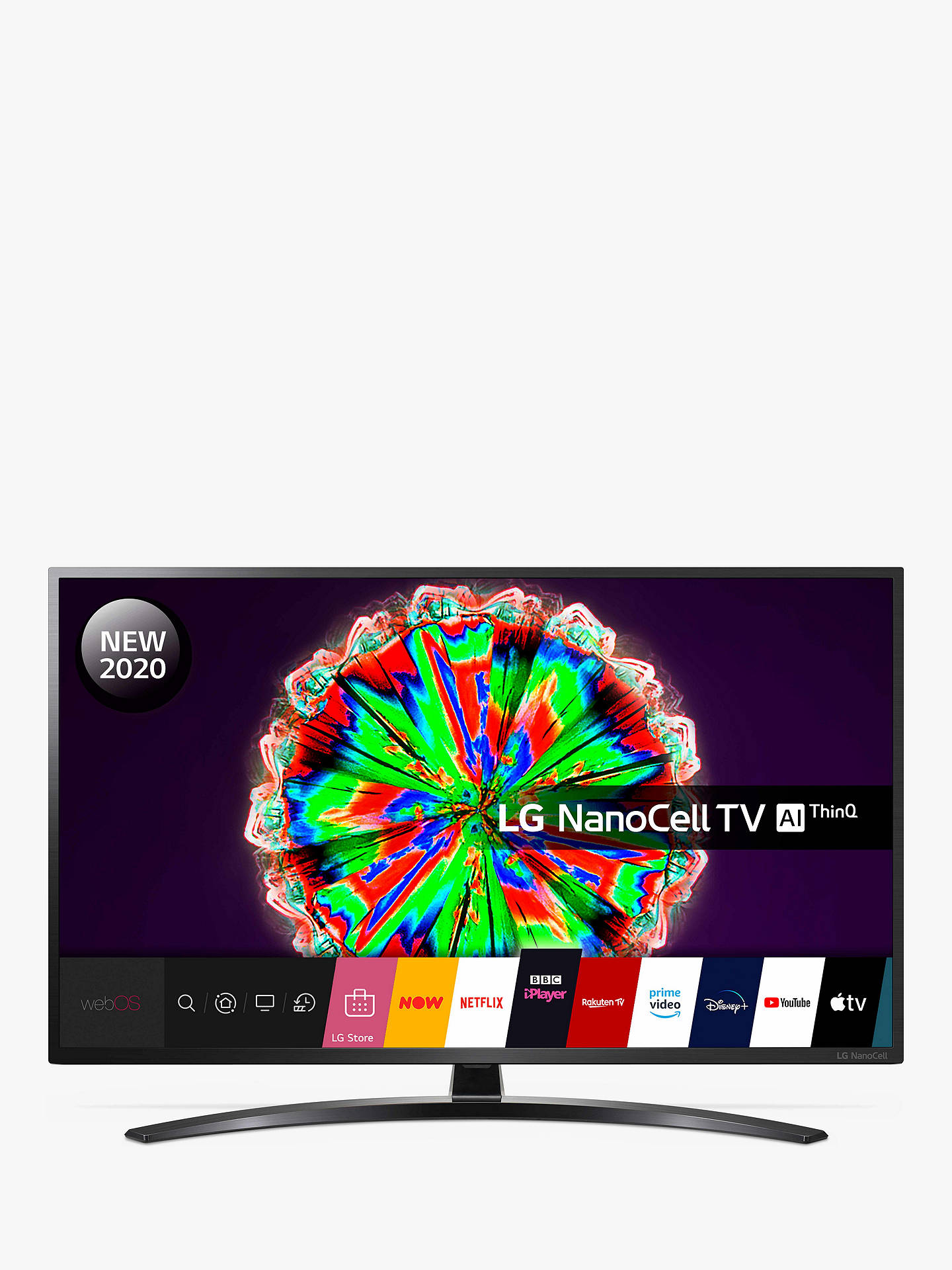 Buy LG 65NANO796NF (2020) LED HDR NanoCell 4K Ultra HD Smart TV, 65 inch with Freeview HD/Freesat HD & Crescent Stand, Black Online at johnlewis.com