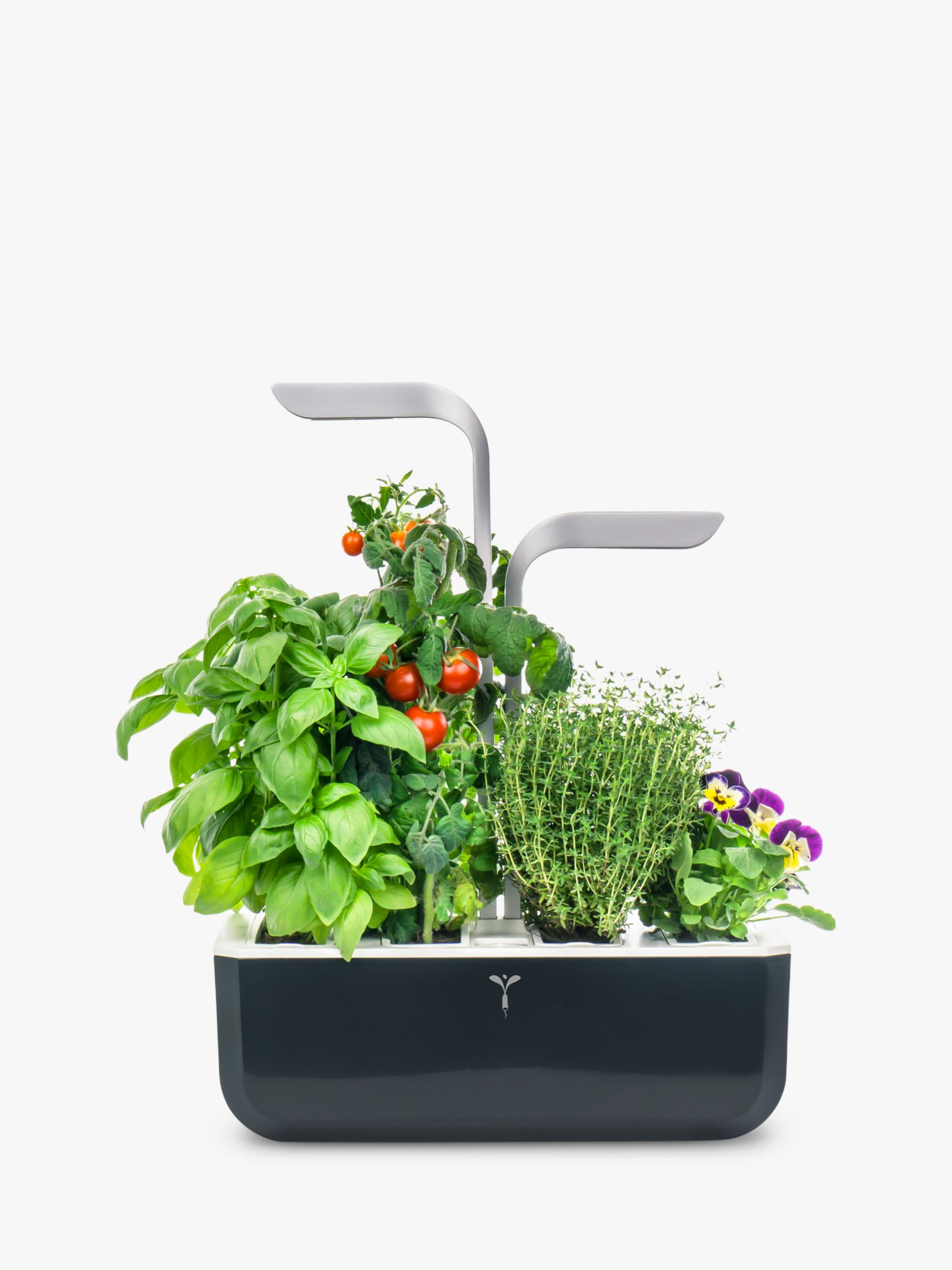 Veritable Indoor Garden Smart Edition 4 Slot Herb & Plant Holder, Black