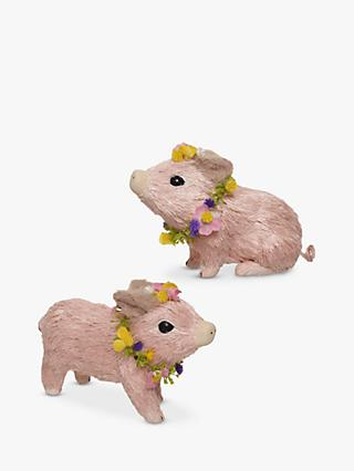 John Lewis & Partners Pig & Flowers Easter Decoration