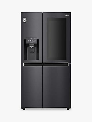 LG GSX960MCCZ Freestanding 60/40 American Fridge Freezer, Matte Black