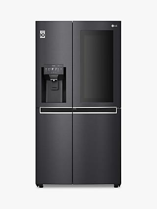LG GSX961MCCZ Freestanding 60/40 InstaView Door-in-Door™ American Fridge Freezer, Matte Black