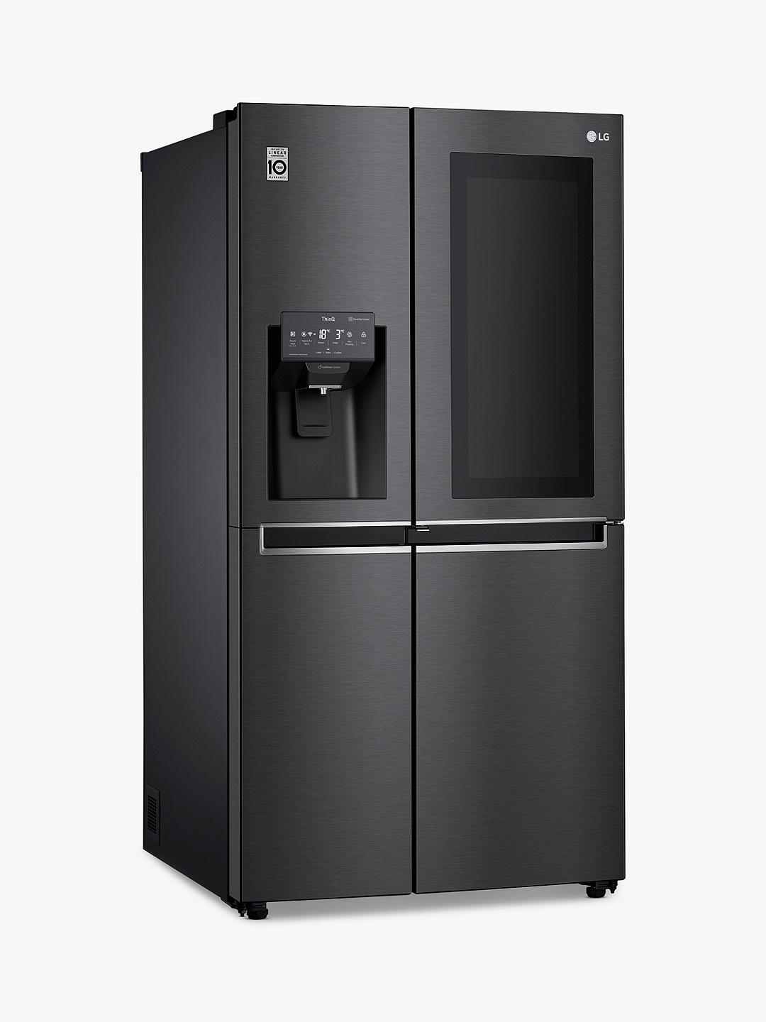 Buy LG GSX961MCCZ Freestanding 60/40 InstaView Door-in-Door™ American Fridge Freezer, Matte Black Online at johnlewis.com
