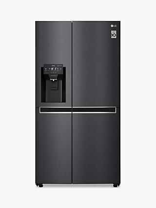 LG GSL761MCKV Freestanding 60/40 American Fridge Freezer, Matte Black