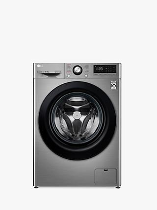 LG F4V310SSE Freestanding Washing Machine, 10.5kg Load, 1400rpm, Graphite