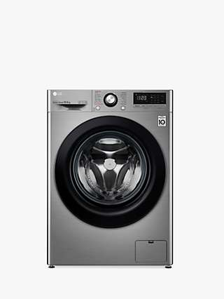 LG F4V310SSE Freestanding Washing Machine, 10.5kg Load, 1400rpm Spin, Graphite