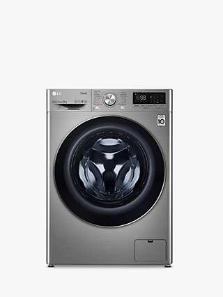 LG F4V709STSE Freestanding Washing Machine, 9kg Load, 1400rpm Spin, Graphite
