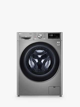 LG FWV796STSE Freestanding Washer Dryer, 9kg/6kg Load, 1400rpm Spin, Graphite