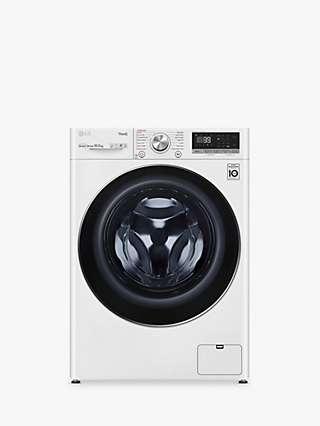 LG F6V1010WTSE Freestanding Washing Machine, 10.5kg Load, 1600rpm Spin, White