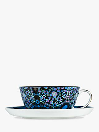 T2 Moroccan Tealeidoscope Cup and Saucer, 180ml, Aqua