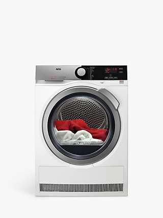 AEG 7000 T7DEE845R Heat Pump Tumble Dryer, 8kg Load, White