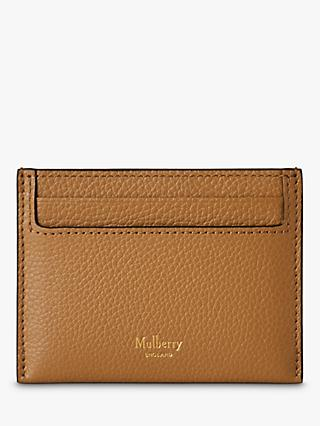 Mulberry Continental Small Classic Grain Leather Credit Card Slip