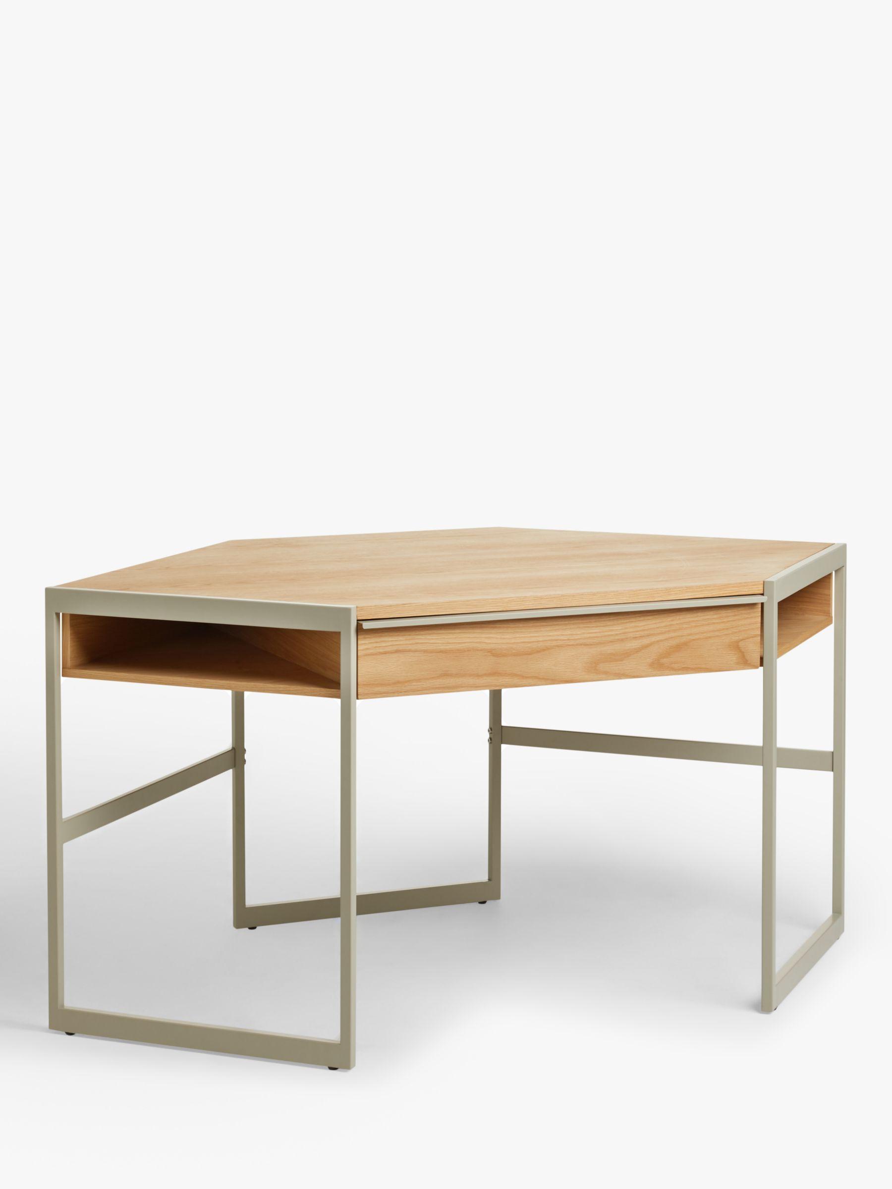 John Lewis & Partners Glide Corner Desk, Natural