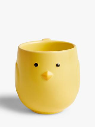 John Lewis & Partners Chick Mug, 300ml, Yellow