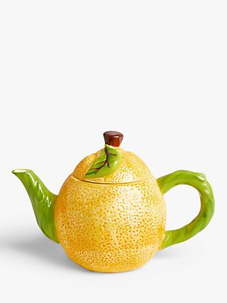 John Lewis & Partners Lemon 4 Cup Teapot, 1L, Yellow