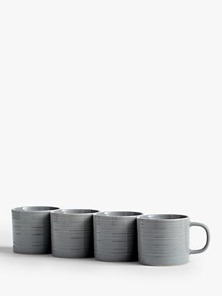ANYDAY John Lewis & Partners Craft Speckle Glaze Mugs, Set of 4, 300ml