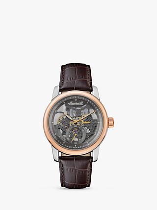 Ingersoll Men's The Baldwin Automatic Skeleton Leather Strap Watch