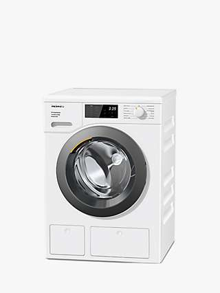 Miele WED665 Freestanding Washing Machine, 8kg Load, 1400rpm Spin, White