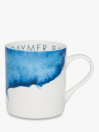 Rick Stein Coves of Cornwall Daymer Bay Mug, 300ml, Blue/White