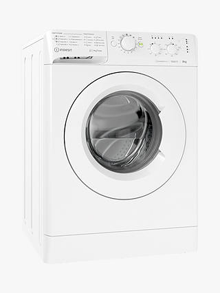 Buy Indesit MTWC 91283 W UK Freestanding Washing Machine, 9kg Load, 1200rpm Spin, White Online at johnlewis.com