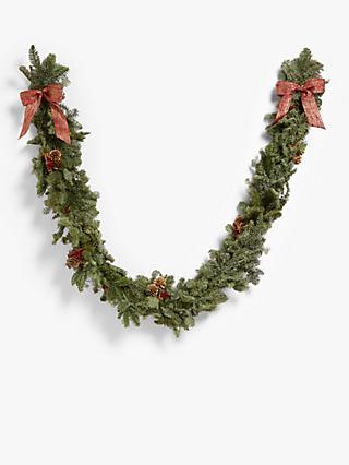 John Lewis & Partners Real Garland, Red, 2m