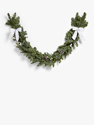 John Lewis & Partners Real Garland, White, 2m