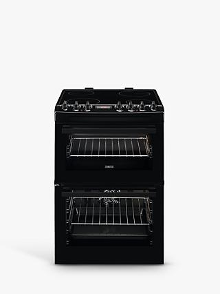 Zanussi ZCV69360BA Double Electric Cooker, Black