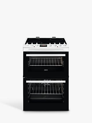 Zanussi ZCV69360WA Double Electric Cooker, White