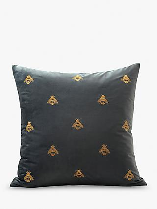 MM Linen Buzz Cushion, Black