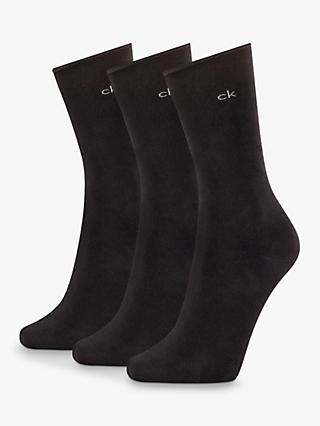 Calvin Klein Emma Roll Top Ankle Socks, Pack of 3